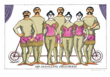 The Pedalling Palludinis Postcard
