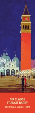 The Piazza, Venice, Night Bookmark