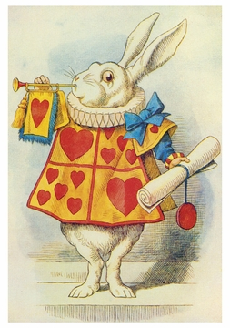 The White Rabbit Notecard