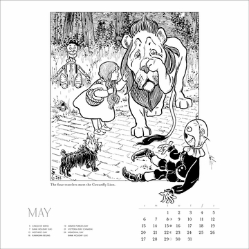 The Wizard of Oz 2018 Coloring Wall Calendar