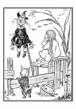 The Wizard of Oz Coloring Cards