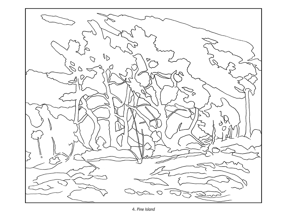 tom thomson coloring book - Botany Coloring Book
