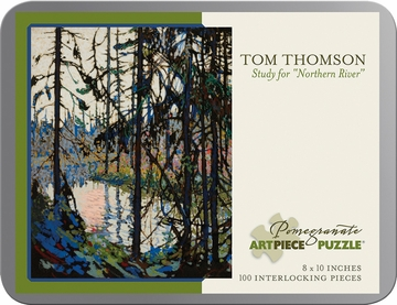 "Tom Thomson: Study for ""Northern River"" 100-piece Jigsaw Puzzle"