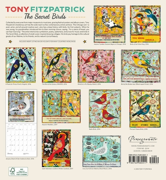 Tony Fitzpatrick: The Secret Birds 2019 Wall Calendar