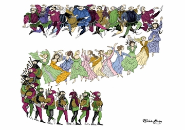 Twelve Lords a'Leaping Notecard