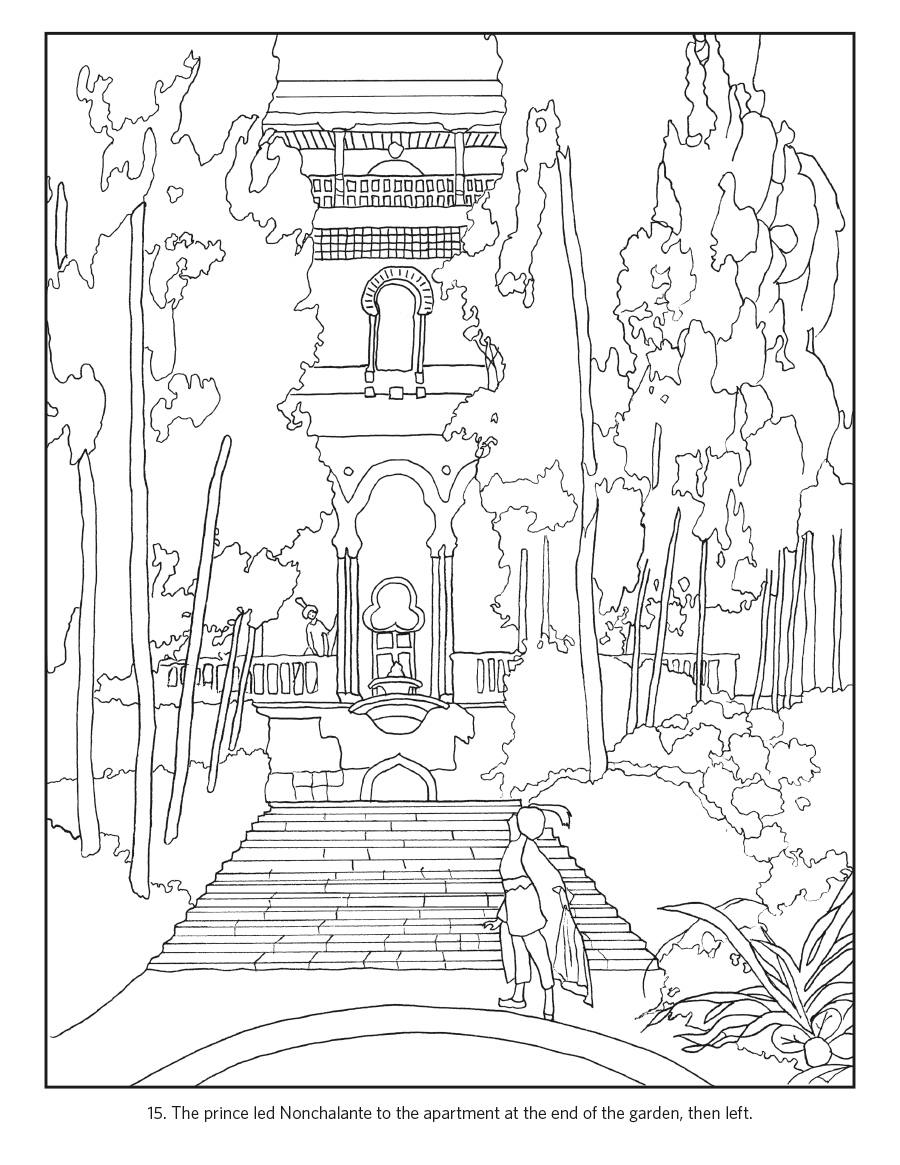 Umberto Brunelleschi Stories From Once Upon A Time Coloring Book