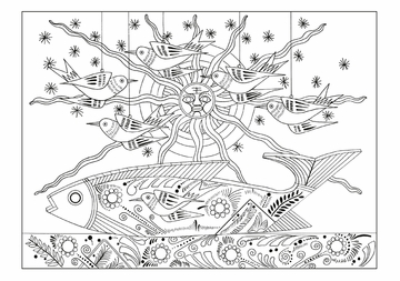 Viktor Schreckengost: Under the Sun Coloring Cards