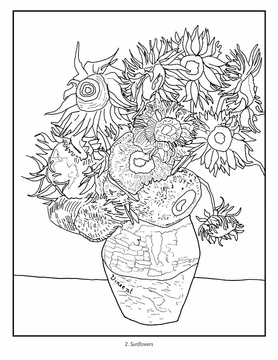 Vincent van Gogh Coloring Book