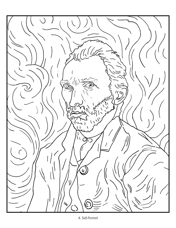 coloring pages van gough - photo#15