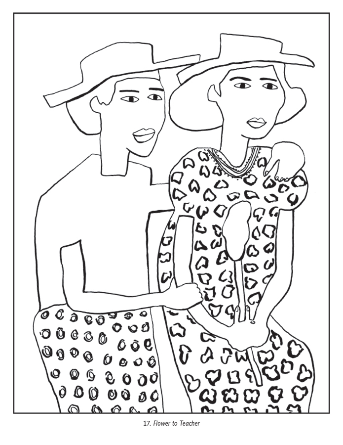william h johnson coloring book