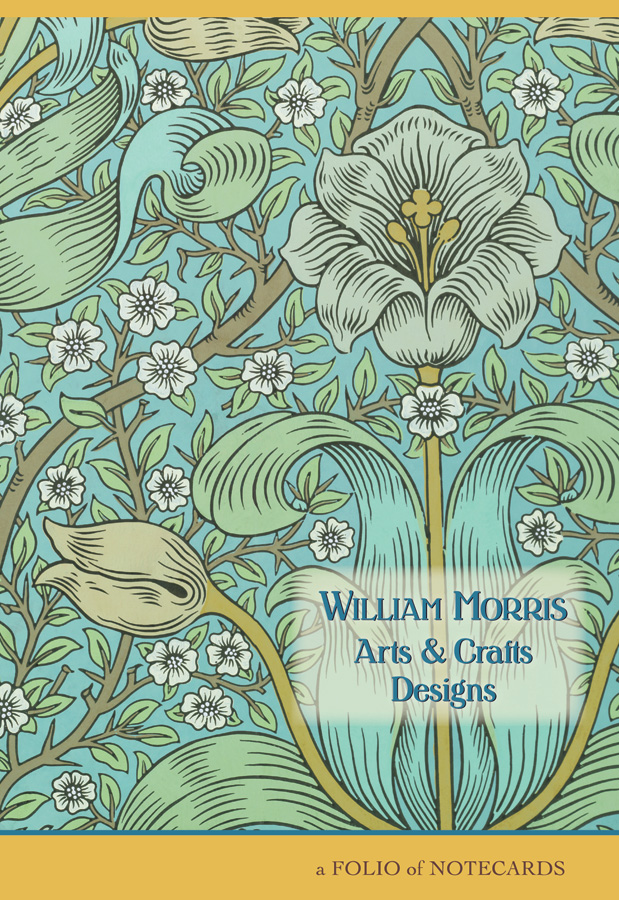 William Morris Arts Crafts Designs Notecard Folio