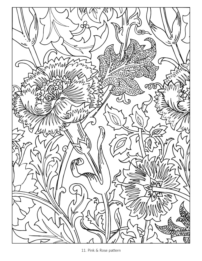 william morris coloring book - Coloring Book Patterns