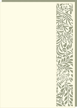 William Morris Design #5 Laser-Cut Notecard