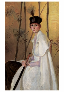 Woman in White Notecard