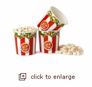 3-Ct. Small Red & White Popcorn Tubs