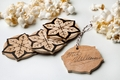 Autographed Wooden Snowflake Ornament - 3 Pack