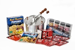 Silver Whirley-Pop: Popcorn Topping Bar Gift Set