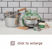 Stainless Steel Whirley Pop Stovetop Popper Organic Gift Set