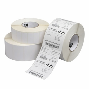 "1"" x 1.437""  Zebra Thermal Transfer 8000T Vinyl Clear Vinyl Label;  3"" Core;  7500 Labels/roll;  1 Roll/carton"