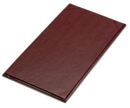 """11"""" x 5 1/2"""" - Plaza Menu Covers (25 covers/pack) - 1 Panel / 1 View"""