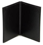 "11"" x 5 1/2"" - Plaza Menu Covers (25 covers/pack) - 2 Panel / 2 View"