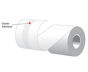 """2.25"""" x 160'  MAXStick 15# Direct Thermal """"Sticky Paper"""" (24 rolls/case) - Center Adhesive"""
