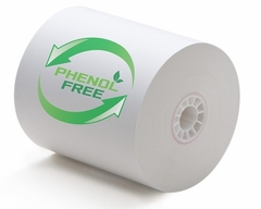 "3 1/8"" x 230'  (80mm x 70m) BPA & BPS Free Thermal Paper (25 rolls/case) - Phenol Free"