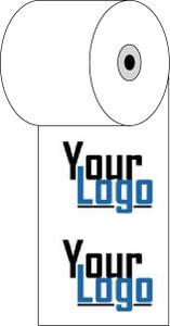 """3 1/8"""" x 273'  (80mm x 83m)  Custom Printed Thermal Paper  (750 rolls/case) - 4-Color"""