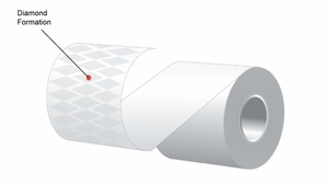 "3.125"" x 170'  MAXStick 21# Direct Thermal ""Sticky Paper"" (32 rolls/case) - Diamond Adhesive"
