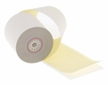 "3"" x 95'  2-Ply Carbonless Paper  (50 rolls/case) - White / Canary"