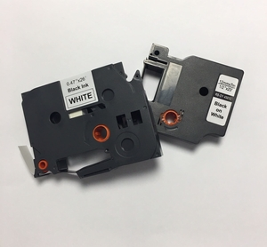 """.23"""" x 26.2' (6mm x 8m) Brother Compatible P-Touch Label Tape for TZe-211 - Black on White"""