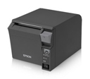 Epson TM-T70II, Front Loading Thermal Receipt Printer, Powered USB and USB, Epson Dark Gray, No Power Supply, Req Cable