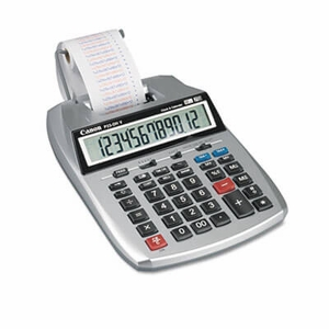 Cannon P23-DHV 12-Digit Two-Color Printing Calculator, 12-Digit LCD, Purple/Red