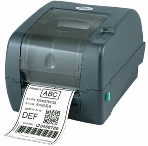 """TSC TTP-247 Performance Kit - Thermal Transfer Printer, 203 dpi, 7 ips, 4 ports - Ethernet, USB, Parallel, Serial plus real time clock, plus external 8"""" OD media unwinder with 3"""" core holder"""