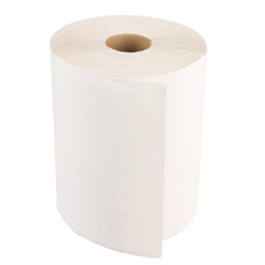 """Windsoft 8"""" x 800' Bleached White Paper Towel Roll (12 rolls)"""