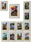 3D Jurassic World Dinosaurs Framed Pictures, 11 pcs