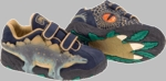 3D Stegosaurus Shoes with Flashing Eyes
