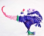 T-rex Dinosaur Drawing Contest Picture by Patrikas Sabasevicius