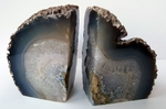 Large Brazilian Agate Natural Gray Geodes 6""