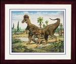 Jurassic World Dinosaurs Framed Picture 14 x 17inch