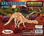 3D Apatosaurus Long Neck Dinosaur Wood Bones Skeleton, 14 inch, 12 Kits