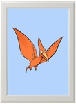 Baby Dino Jurassic Pteranodon Framed Picture