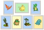 Baby Dinos Framed Pictures
