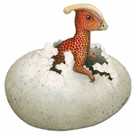 Parasaurolophus Dinosaur in Egg Wall Sticker