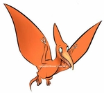 Baby Pteranodon Dino Wall Decal