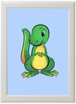 Baby T-rex Dinosaur Framed Dino Picture