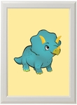 Baby Dinosaur Triceratops Dino Framed Picture Room Decoration