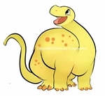 Baby Yellow Brachiosaurus Dino Wall Sticker