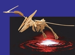 Giant Flying Reptile Pteranodon Woodcraft Skeleton Kit,  47 inch