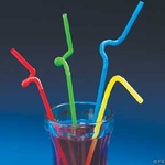 Bright Color Bendable Straws. 144 pcs